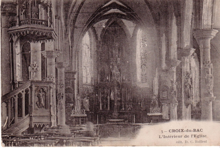 interieur eglise avant 1914