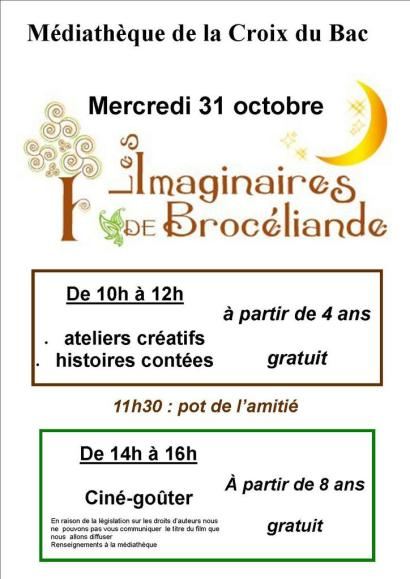 atelier brocéliande du 31 octobre 2