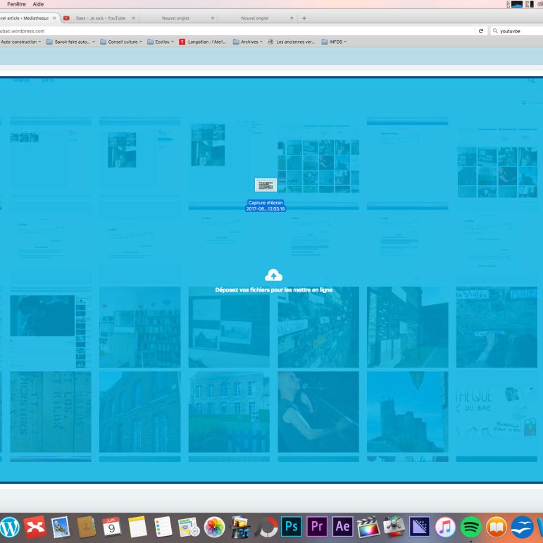 OU simplement en glissant la photo de votre dossier de bureau (windows, mac ou linux)